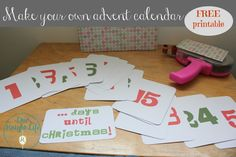 Free Advent Calendar Printable! #DIY #crafts #Christmas