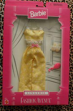 Barbie Fashion Avenue Doll Clothes Lingerie 19197 1998 New | eBay