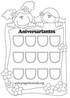 Painel para aniversariantes com moldes | Pra Gente Miúda
