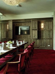 private room with hidden screen