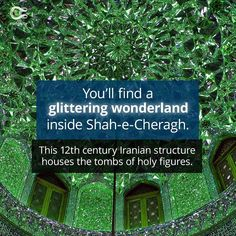 It's the real-life Emerald City. Check out the full article on Curiosity.com and in the Curiosity app! #emeraldcity #shahecheragh #iran #beautiful #curiosity #shiraz Emerald City, 12th Century, Curiosity, Real Life, App, Iran, Instagram, Check, Beautiful
