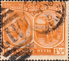 1921 St Kitts - Nevis King George V SG 25 Fine Used SG 25 Scott 25 Other British Commonwealth Stamps for sale here