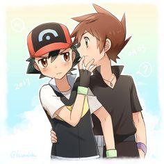 Gary Pokemon, Pokemon Manga, Pokemon Ships, Pokemon Funny, Cool Pokemon, Pokemon Go, Pikachu, Satoshi Pokemon, Pokemon Eevee Evolutions