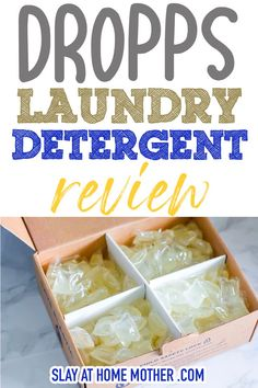 I tried non-toxic Dropps laundry detergent and am comparing it to Tide what our family usually uses. From EWG rating to scent cleaning power and my non-sponsored TRUE thoughts. Homemade Laundry Detergent, Dish Detergent, Bathroom Cleaning Hacks, House Cleaning Tips, Laundry Pods, Diy Household Tips, Wool Dryer Balls, Biodegradable Products, Things That Bounce