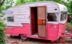 Pink Trailer, Shasta Trailer, Shasta Camper, Little Trailer, Hot Trailer, Scamp Trailer, Vintage Campers Trailers, Retro Campers, Vintage Caravans