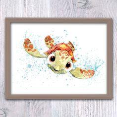 Finding Nemo nursery, Turtle Squirt, Nemo, Kids room, finding nemo baby shower, Nursery wall, Nemo art print, Baby room baby girl nurseryV77 by ColorfulPoster on Etsy https://www.etsy.com/listing/386697792/finding-nemo-nursery-turtle-squirt-nemo