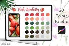 #Procreate #Color #Palette #Swatches #Fresh #Strawberry