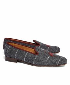 Stubbs and Wootton Logo Slipper - Brooks Brothers. Yeah, I'd wear them as shoes with tights.