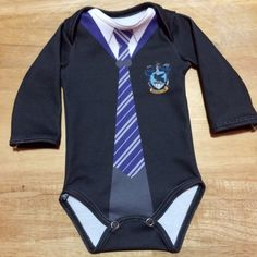 Harry Potter Newborn LongSleeve Ravenclaw Onesie by InkandSpool
