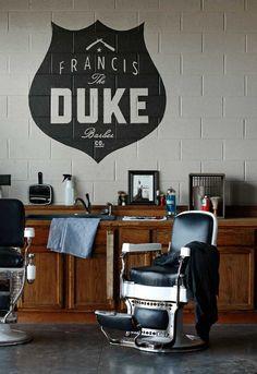 The Duke barber branding