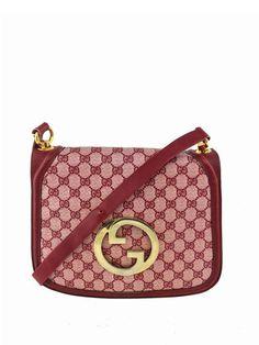 Gucci Vintage Monogram Canvas Blondie Bag Red