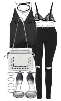 """""""Untitled #19922"""" by florencia95 ❤ liked on Polyvore featuring Topshop, Dion Lee, Fendi, Humble Chic, Stuart Weitzman, Fallon and Forever 21"""