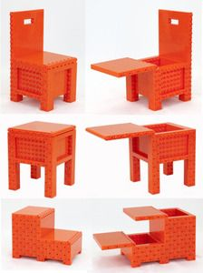 Jekca Homebuilder Lite - Orange #kidsfurniture #kidschairs