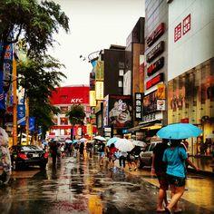 beauty in the rain in this country (Ximen, Taipei, Taiwan)