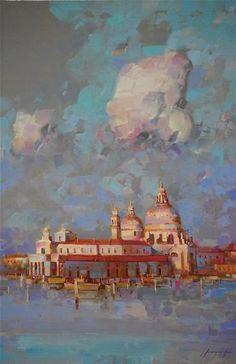 Santa Maria Della Salute, Venice Cityscape oil Painting, One of a Kind