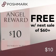 $10 Victoria's Secret / PINK reward card FREE with next sale of at least $60   check out my closet!  I do custom bundles  PINK Victoria's Secret Other