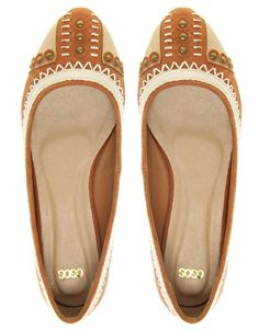 ASOS LOUIS Ballet Flat Shoes with Embroidery