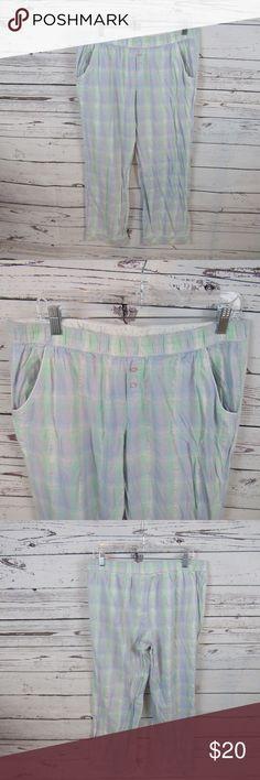 c31f57a35f Victoria s Secret pastel plaid PJ bottoms Victoria s Secret pastel  blue green lavender silver