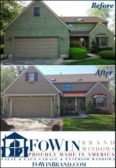 FoWin Brand Windows: False & Faux Garage & Exterior Windows | Home ...