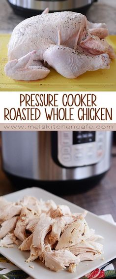 "Lovely Pressure Cooker Paleo ""Roasted"" Whole Chicken Recipe The post 9 of the Best Ever Paleo Instant Pot Recipes – Electric Pressure Cooker appeared first on Kiynos Recipes . Power Pressure Cooker, Slow Cooker Pressure Cooker, Pressure Cooker Chicken, Instant Pot Pressure Cooker, Pressure Pot, Chicken Cooker, Pressure Cook Whole Chicken, Farberware Pressure Cooker, Ip Chicken"
