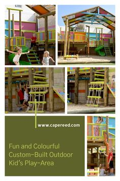 Give your kids the fun and freedom, as well as encouragement, to play outside more, while at the same time benefiting their overall health and development on a whole new level. Outdoor Play, Outdoor Spaces, Outdoor Living, Kids Play Area, Tree Houses, Outdoor Settings, How To Better Yourself, Kids Playing, Living Spaces