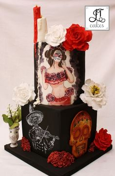Shrine: Sugar Skulls Collaboration Cake