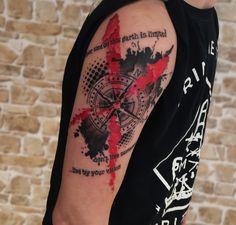Don't lose your way with this tattoo done by Raul Durán! #sailorandsaints #tattoo #tattooink #tattooartists #arttatoo #ink #inkbro #sailorandsaints #tattoostudio #toptattoartists #instatattoo