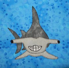 Hammerhead shark PDF applique quilt pattern by MsPDesignsUSA