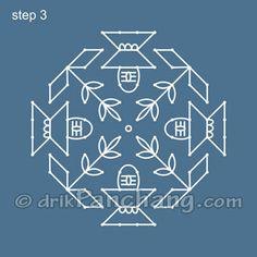 Dot Rangoli Step 3
