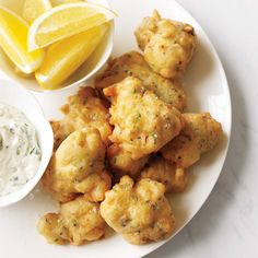 Scallop Fritters // More Terrific Scallop Recipes: http://www.foodandwine.com/slideshows/scallops #foodandwine