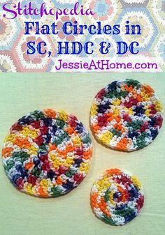 How to make a flat circle in single, half double, or double crochet ✿⊱╮Teresa Restegui http://www.pinterest.com/teretegui/✿⊱╮
