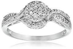 10k White Gold Diamond Promise Ring (1/5 cttw, I-J Color, I2-I3 Clarity)