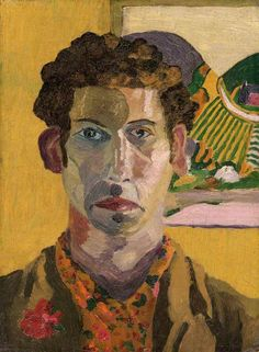 Cedric Lockwood Morris ~ Self-Portrait ~ born in Wales, lived in East Anglia and traveled to the U. Painting Prints, Painting & Drawing, Encaustic Painting, Lino Prints, Block Prints, Collaborative Art, Art Uk, Your Paintings, Oil On Canvas