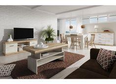 Woonkamer Crown is een prachtig landelijk vormgegeven set meubels bestaande uit een tv-meubel, salontafel, dressoir en eetkamertafel. Deze set is afgewerkt in donker eiken met moderne handgrepen. Een complete set meubels waarmee je een geheel nieuwe sfeer in huis creëert.