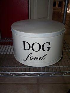 Dog food tin