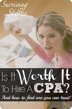 Is it worth it to hire a CPA or should you just do it yourself? Here are several questions to ask before making the decision!