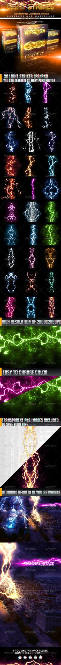 30 Stunnig Light Strikes - Decorative Graphics