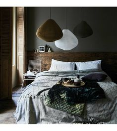 The Nordroom - Creative Headboard and Bedroom Styling Ideas (photo by HK Living) Cozy Bedroom, Bedroom Decor, Bedroom Scene, Fall Bedroom, Trendy Bedroom, Bedroom Inspo, Design Bedroom, Bedroom Ideas, Rustic Wooden Headboard