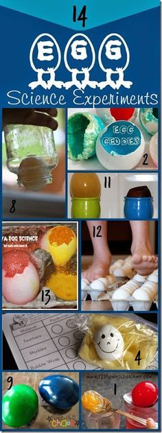 14 Amazing Egg Science Experiments for Kids perfect for Easter, Spring or Homeschool kids from Preschool, Kindergarten to Elementary age kids!