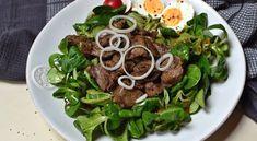 Kuřecí játra na salátovém lůžku, excelentní low carb oběd #lowcarb #keto Vinaigrette, Whole30, Lowes, Ramen, Low Carb, Ethnic Recipes, Diet, Whole 30, Vinaigrette Dressing
