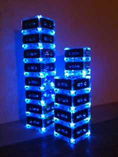 Unique Event Centerpieces Music Theme Lighted Cassette Tape Centerpiece for Reunion 80s Party Music Event Prom Wedding