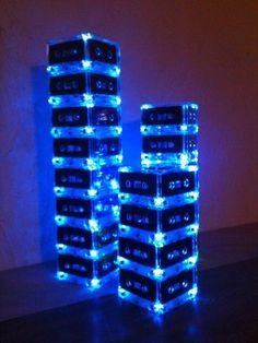 Unique Event Centerpieces Music Theme Lighted Cassette Tape
