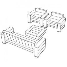 Erg leuk!! bouwtekeningen om je eigen loungeset te maken