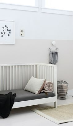 One coat of Translucent Silk was all it took to complete this beautiful DIY minimalist nursery. The soft gray has pink undertones that add a touch of femininity to the space while still making it feel clean and put-together. Find inspiration for your own home makeovers and see what a coat of paint can do for you. |@amerrymishap