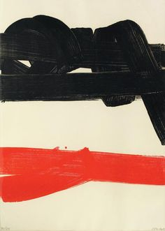 Composition. Pierre Soulages, 1970.