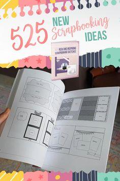 Scrapbook Paper Projects, Scrapbook Designs, Scrapbook Sketches, Scrapbook Page Layouts, Scrapbook Supplies, Scrapbooking Ideas, Digital Scrapbooking, Wedding Scrapbook, Disney Scrapbook