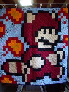 I want a Tanuki-Mario quilt!