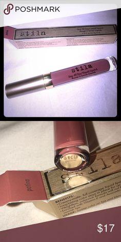 "NEW•FULLSIZE STILA ALLDAY LIQUID LIPSTICK•""PATINA"" New in box. One of my favorite liquid lipsticks. and a favorite color of mine too ""PATINA"". Stila Makeup Lipstick"