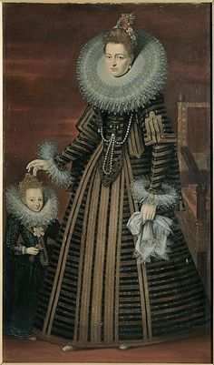 ISABELLA CLARA EUGENIA (1566-1633). Infanta of Spain and Portugal; consort of Archduke Albert VII of Austria and co-sovereign of the Spanish Netherlands. Painting, c1600.