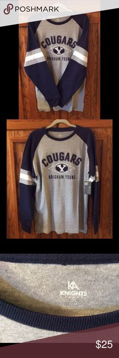 NWT - BYU COUGARS  HEAVY DUTY SWEATSHIRT/JERSEY NWT - HEAVY DUTY BYU COUGARS COLLEGE SWEATSHIRT/JERSEY. Awesome for all the BYU sports fans in your family. GO COUGS!!!  Knights Apparel Shirts Sweatshirts & Hoodies